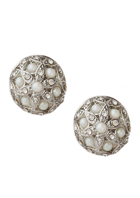 Carolee Fresh Florals Buttons Earrings