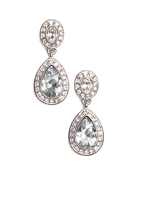Carolee Pave Stone Drop Earrings