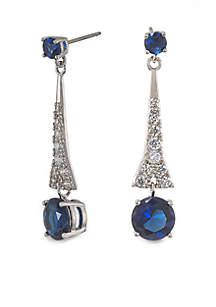 The Looking Glass Royal Blue Drop Pierced Earrings
