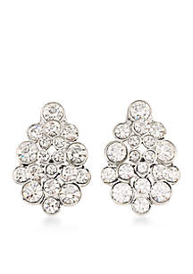 Silver-Tone East Side Clip On Earrings