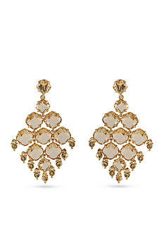 Carolee Gold-Tone Clipped to Perfection Chandelier Clip Earrings