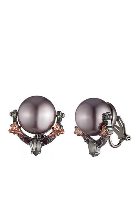 Pearl Door Knocker Earrings