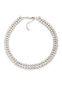 Silver-Tone East Side Collar Necklace