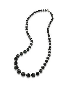 Carolee Hematite-Tone Soho House Black and White Graduated Necklace