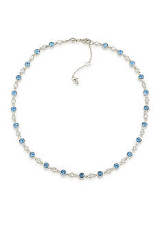 Carolee Silver-Tone Something Blue Collar Necklace