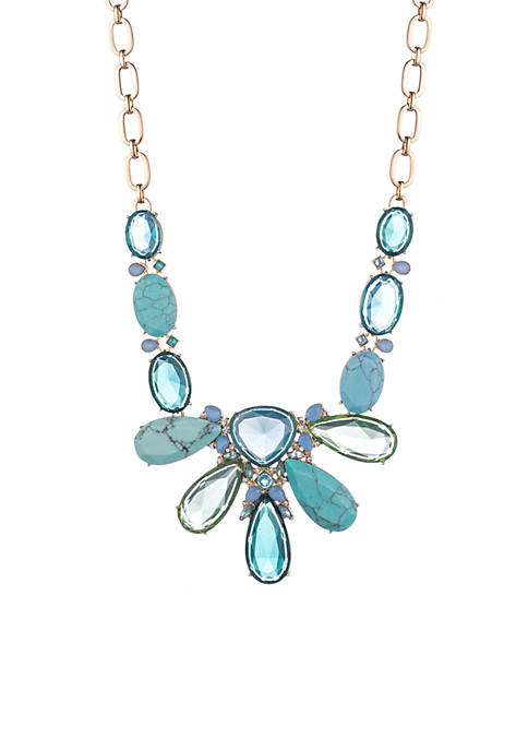 Carolee Gold-Tone Turquoise Garden Ombre Stone Statement Necklace