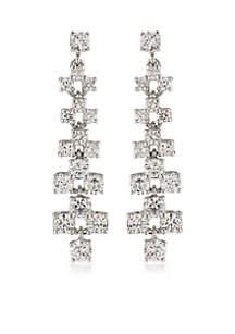 Silver-Tone East Side Linear Earrings