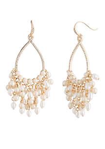 Pacific Pearl Gypsy Hoop with Pearl Drops Earrings