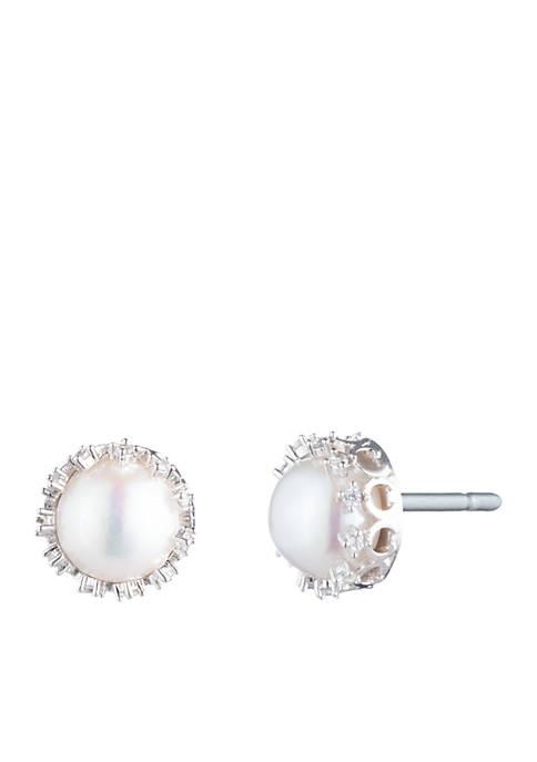 Carolee Pearl Stud Earrings