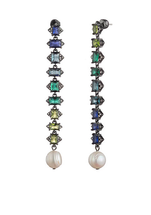 Out All Night Ombre Linear Drop Earrings