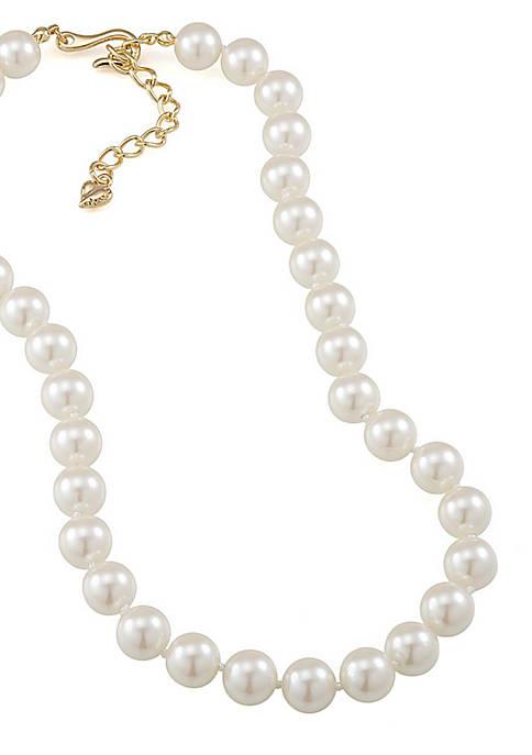 Carolee Adjustable Classic Pearl Strand