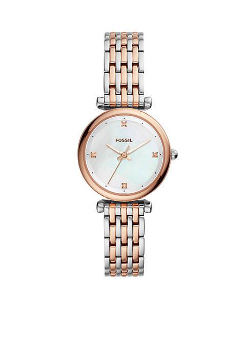 Stainless Steel Carlie Three-Hand Bracelet Watch