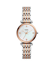Stainless Steel Carlie Three-Hand Bracelet Watch