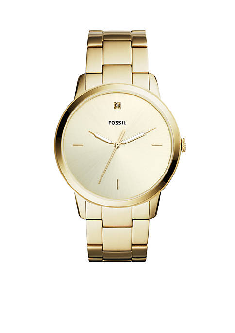Fossil® Mens Stainless Steel The Minimalist Carbon Series