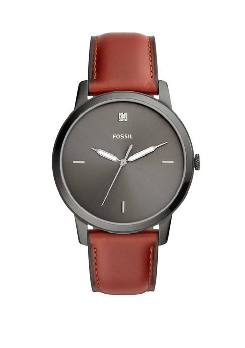 The Minimalist Three-Hand Leather Watch