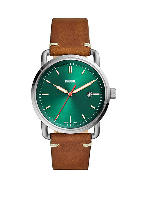 Commuter 3 Hand Date Leather Watch