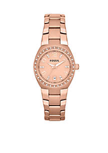 Women's Rose Gold-Tone Stainless Steel Watch