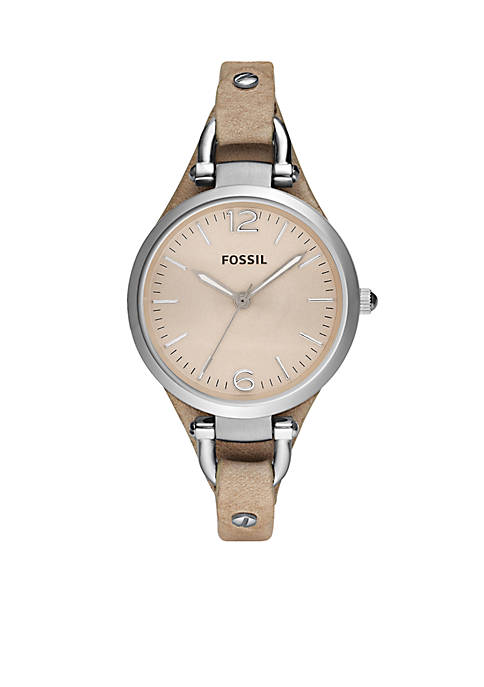 Fossil® Georgia Womens Sand Leather Watch