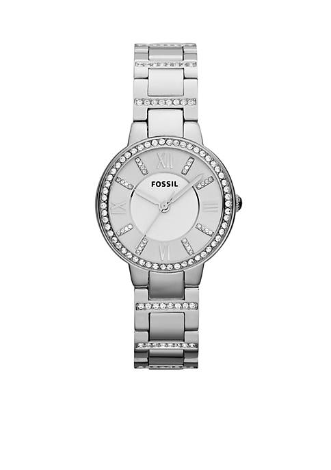 Fossil® Womens Stainless Steel Virginia Three Hand Glitz