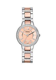 Women's Two-Tone Stainless Steel Three-Hand Glitz Virginia Watch