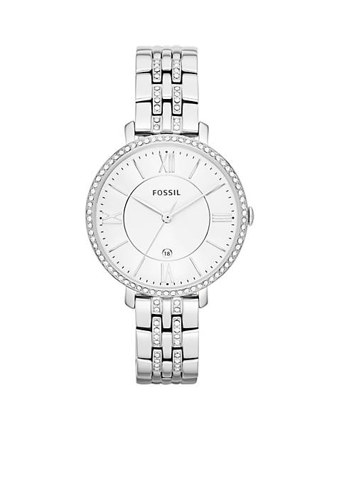 Fossil® Womens Stainless Steel Three-Hand with Date Glitz