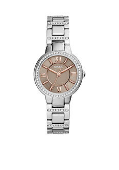 Fossil® Women's Virginia Three-Hand Stainless Steel Watch