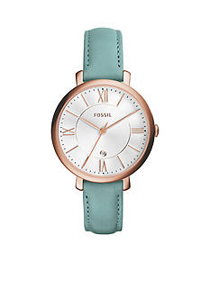 Fossil® Women's Jacqueline Three-Hand Date Leather Watch