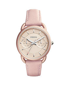 Fossil® Women's Tailor Multifunction Blush Leather Watch