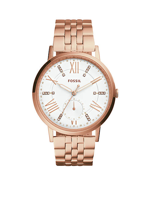 Fossil® Gazer Multifunction Rose Gold-Tone Stainless Steel Watch