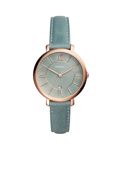 Fossil® Womens Jacqueline Sage Green Leather Watch
