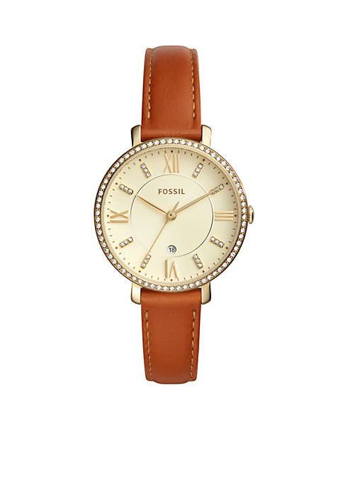 Fossil® Womens Jacqueline Leather Watch