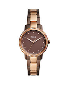 Women's Two-Tone Brown Stainless Steel Neely Three-Hand Watch