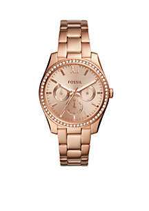 Rose Gold-Tone Stainless Steel Scarlette Multifunction Watch