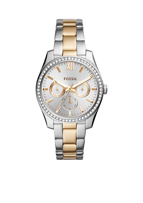 Fossil® Two-Tone Stainless Steel Scarlette Multifunction Watch