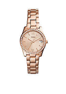Gold-Tone Stainless Steel Scarlette Three-Hand Date Watch