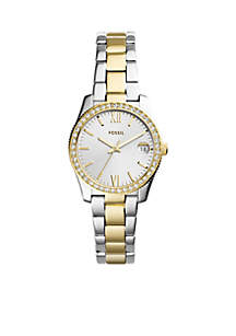 Two-Tone Stainless Steel Scarlette Three-Hand Date Watch