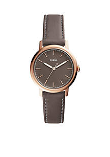 Neely Three-Hand Leather Watch