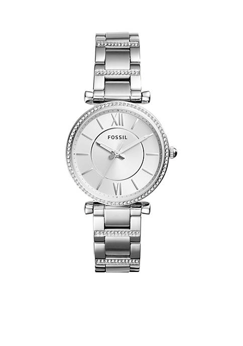 Fossil® Stainless Steel Carlie Three-Hand Watch