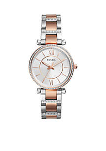Two-Tone Stainless Steel Carlie Three-Hand Watch