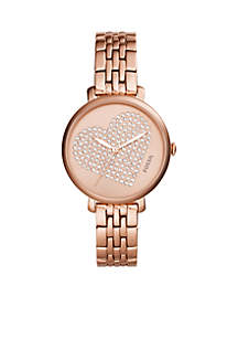 Fossil® Rose Gold-Tone Stainless Steel Jacqueline Three-Hand Watch