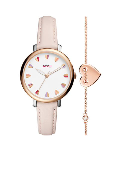 Fossil® Rose Gold-Tone Valentines Day Watch Gift Set