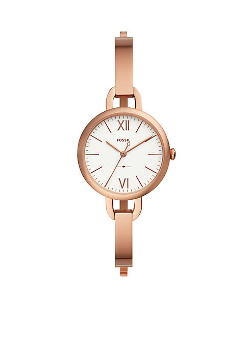 Rose Gold-Tone Stainless Steel Annette Three-Hand Watch
