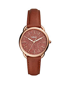 Tailor Glitter Brown Leather Watch