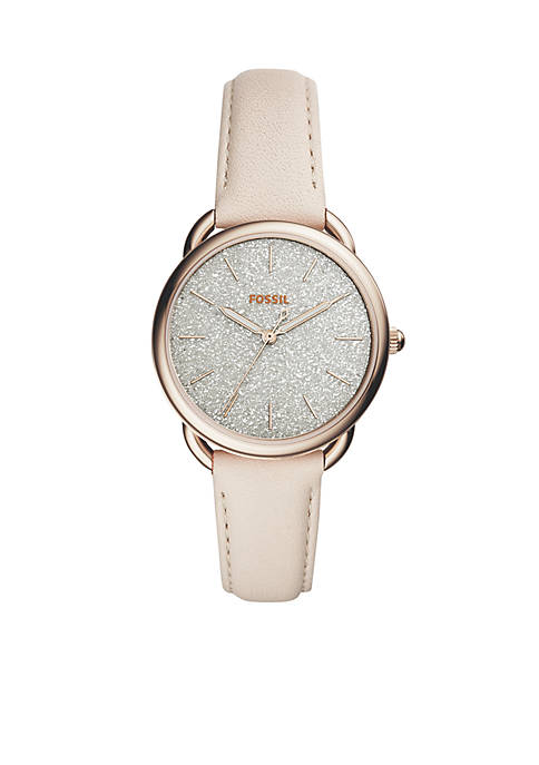 Fossil® Tailor Glitter White Leather Watch