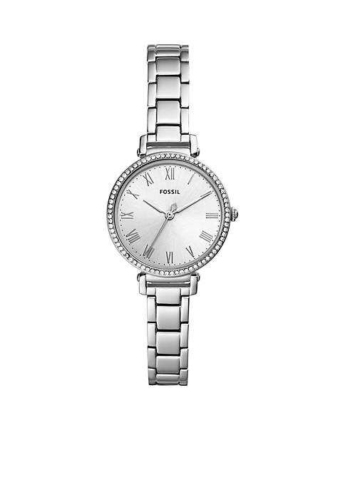 Fossil® Womens Stainless Steel Kinsey Three-Hand Watch