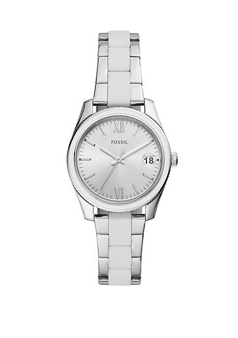 Fossil® Scarlette Mini Three Hand Date Stainless Steel