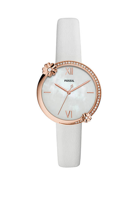 Fossil® Rose Gold Tone Stainless Steel Presley 3
