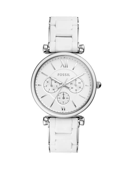 Fossil® Carlie Multifunction Stainless Steel Watch