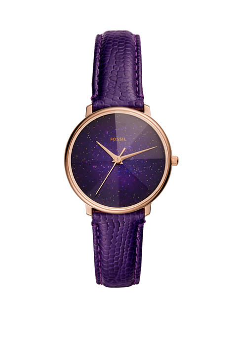 Fossil® Womens Prismatic Galaxy 3 Hand Purple Leather