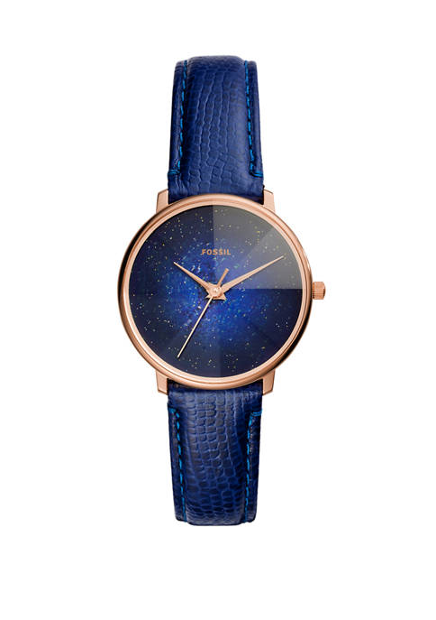 Fossil® Womens Prismatic Galaxy 3 Hand Blue Leather